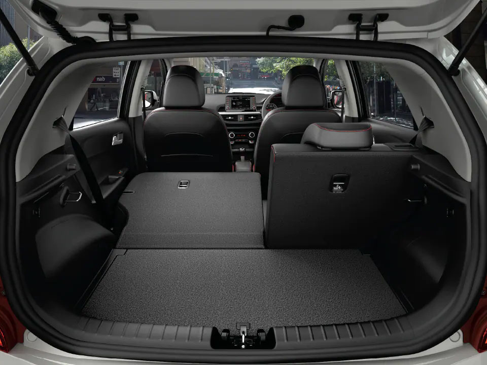60 40 Slipt folding rear seats Picanto