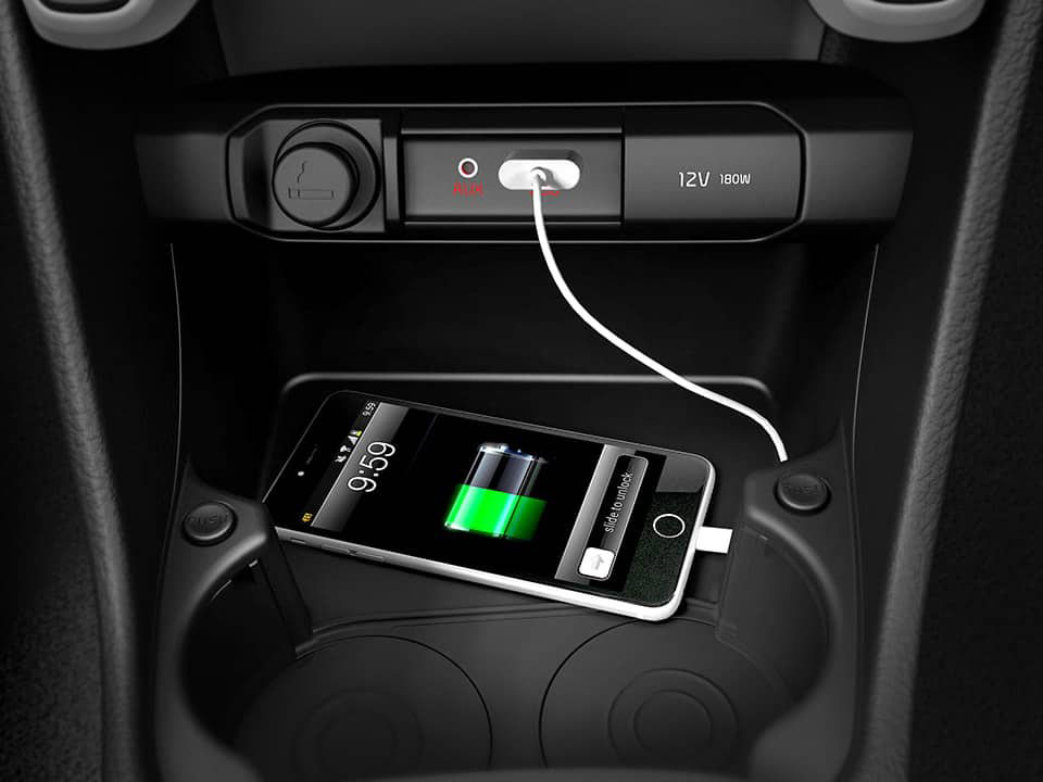 AUX and USB ports Picanto