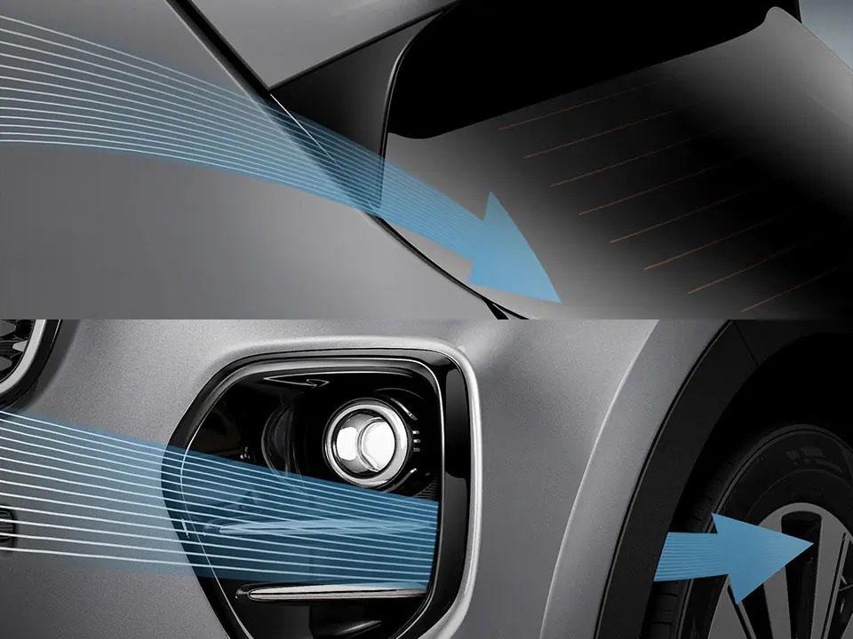 Aerodynamic improvements Sportage