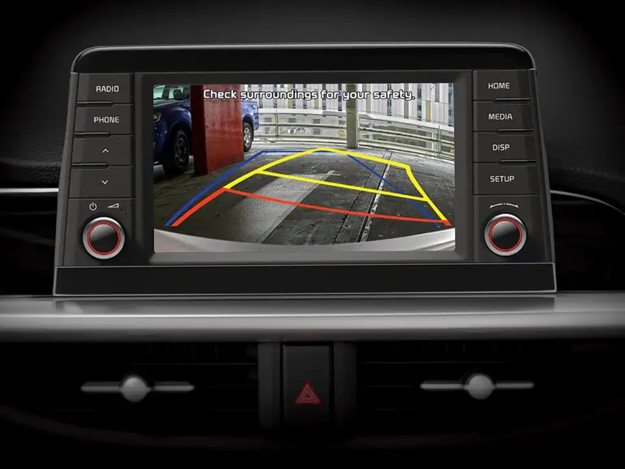 Rear Camera Display with Static Guidelines EX variants only 1 Picanto