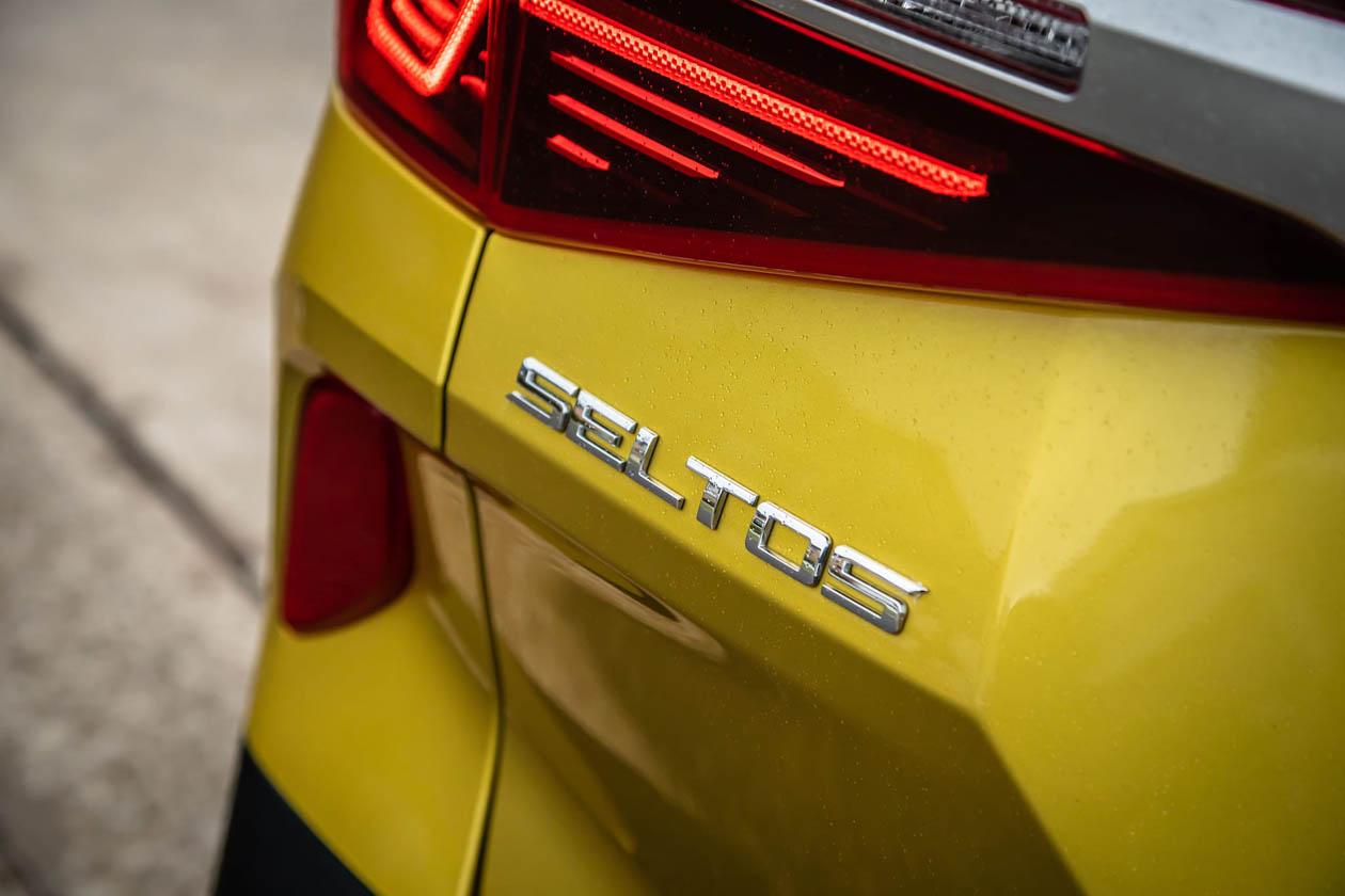 2021 Kia Seltos GT Line rear badge Seltos